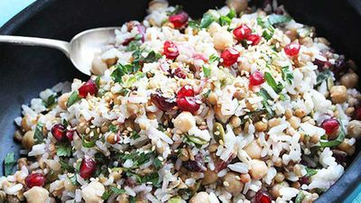 <strong>Liliana Battle's 'feel good' rice, chickpea and cranberry salad</strong>