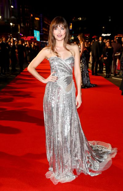 Dakota Johnson attends the UK film premiere of 'Suspiria' at Cineworld, Leicester Square, during the 62nd London Film Festival Headline Gala. October 16, 2018 in London.