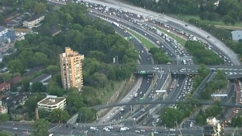 Traffic was banked up at least 12 kilometres earlier today. (9NEWS)