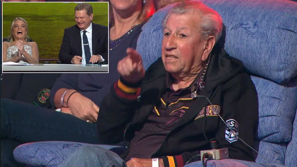 Cranky Frank has NRL Footy Show in stitches