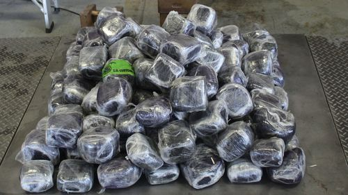 Customs and Border Protection officers seized $4 million in methamphetamine hidden in a commercial shipment of cucumber pickles.