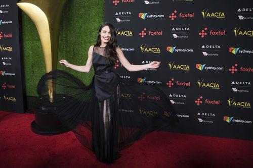 Australian actress Mallory Jansen at the annual AACTA International Awards. (AAP)