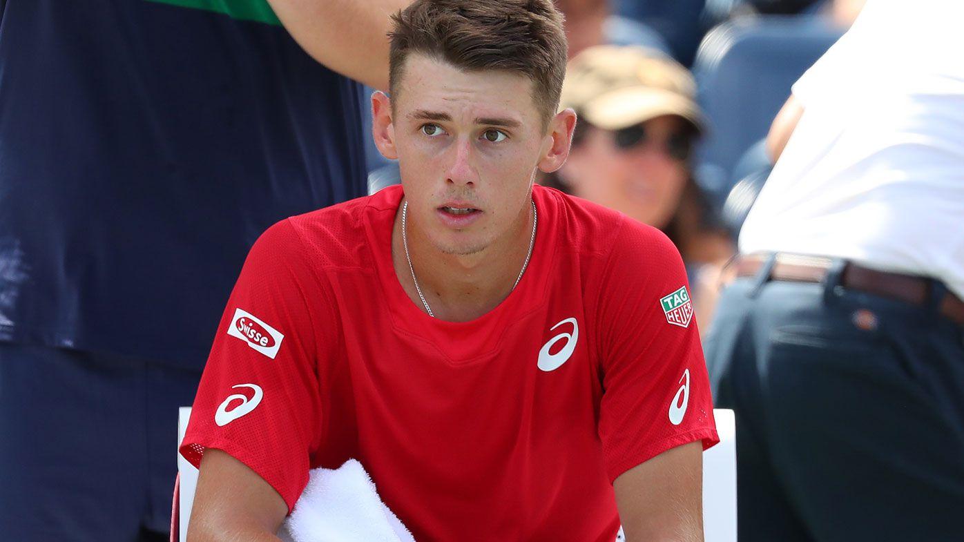 Alex de Minaur lost at the US Open.