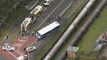 Bus and car crash Smithfield
