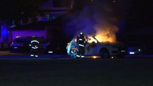 Fire crews safely extinguished the blaze. (9NEWS)