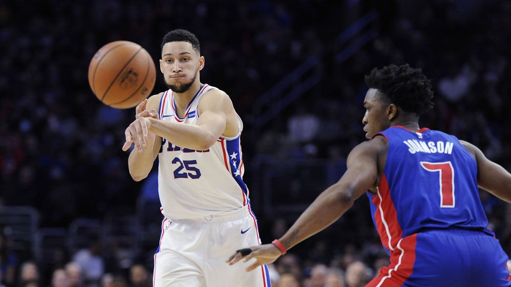 Ben Simmons' leads Philadelphia 76ers to win over Detroit in NBA