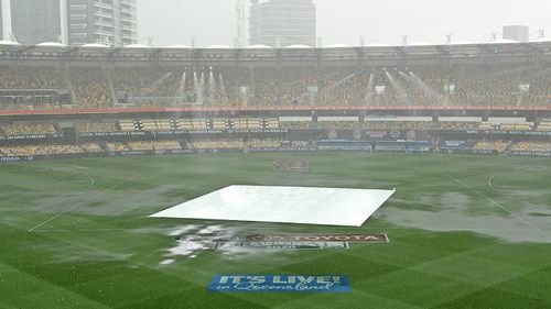 The Gabba before the 2020 AFL grand final
