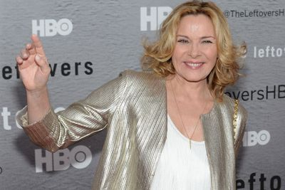 We're guessing Kim Cattrall's <i>SATC</i> character Samantha, would totes approve of her super-sequinned jacket.