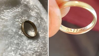 Girl finds owner of lost wedding ring after eight-year search