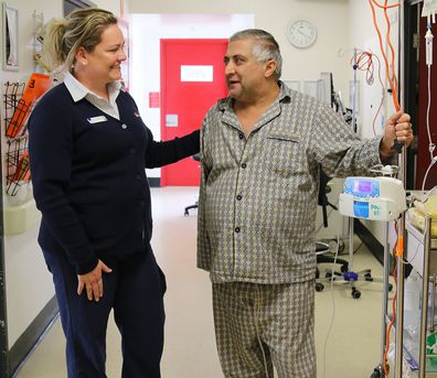 Kate Frampton POW Hospital Foundation with patient