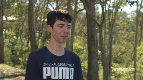 Jed Hockin, 18, spoke to 9NEWS about his incredible achievements. (9NEWS)