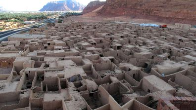 Remains of the ancient city of Al- ´Ula near Madain Saleh