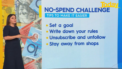 Effie Zahos' tips to making the no-spend challenge easier.