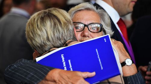Relatives and friends of military personnel killed during the Iraq War attend a news conference after listening to Sir John Chilcot present The Iraq Inquiry Report (Getty Images)