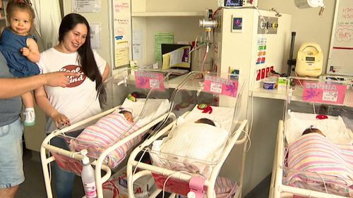 The Albert family have welcomed three baby girls into their family.