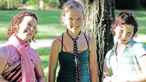 Matt Golinski's daughters - twins Sage and Willow, and Starlia. (Supplied)