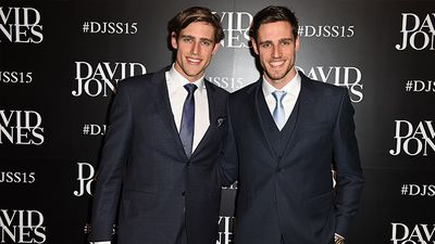 Models Zac and Jordan Stenmark made an appearance at the fashion show, but did not hit the runway due to their busy schedule. (AAP)
