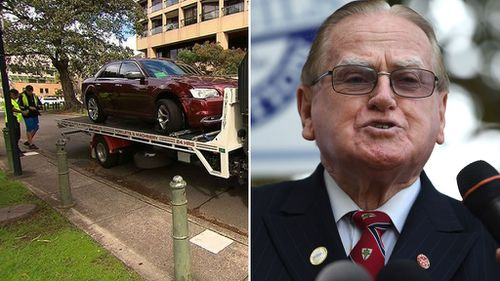 Conservative MP Fred Nile crashes car outside NSW Parliament