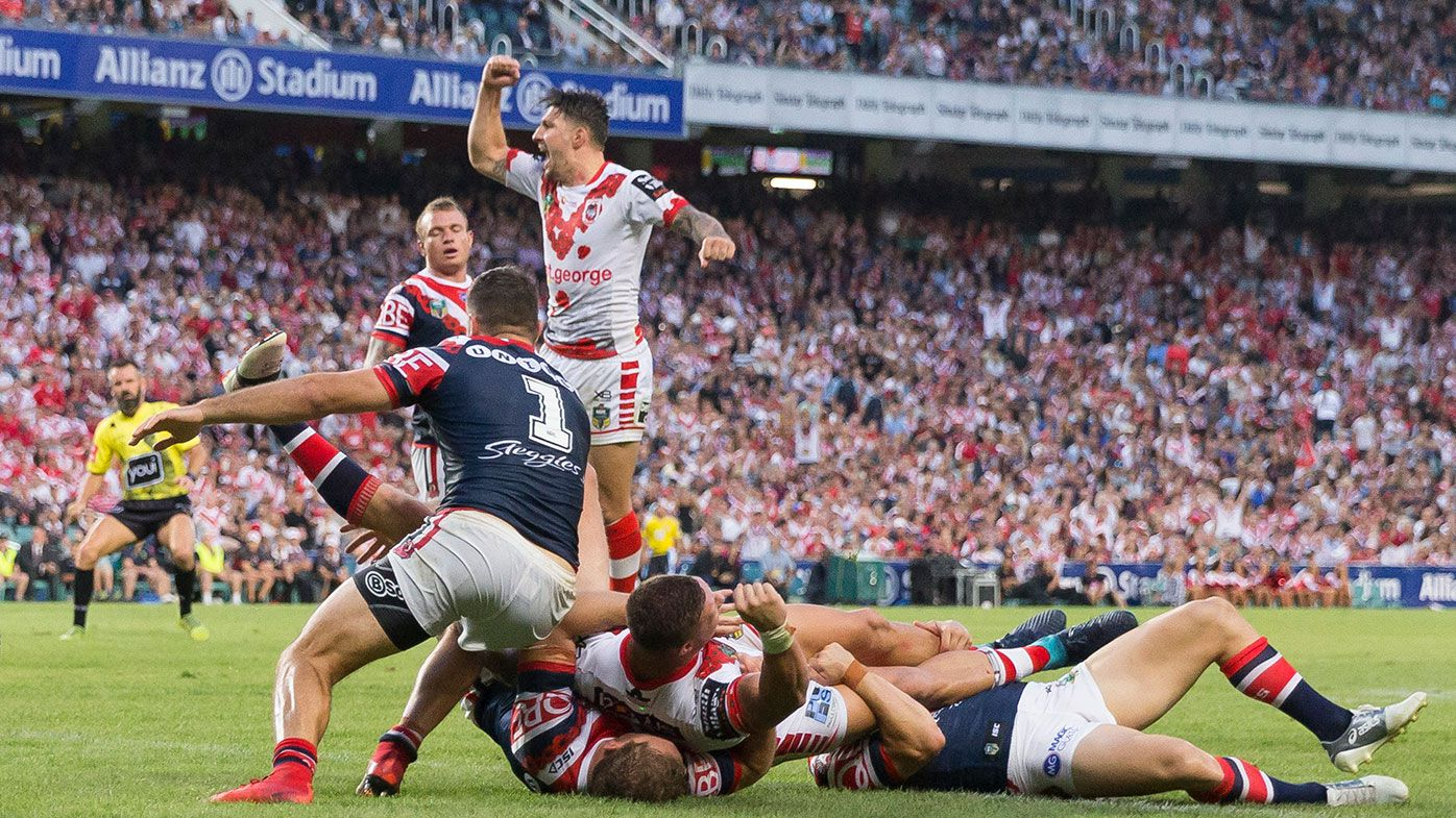 The Roosters and Dragons ANZAC Day clash is a highlight of the 2019 draw.