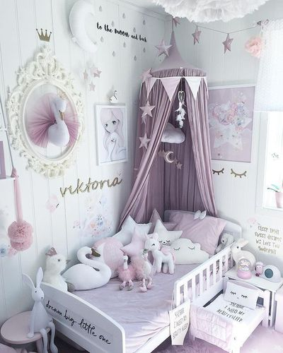 Canopies over kids' beds