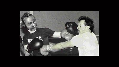 <p>This photo gives a nod to Abbott's university boxing days, albeit an incredibly unflattering one. </p>