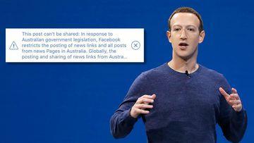 Mark Zuckerberg Facebook bans Australian news content