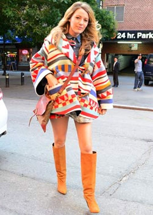 Blake Lively's baby bump debut in New York last week. (Getty Images)