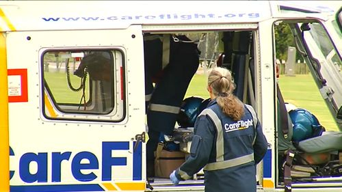 The sole survivor of the crash has been taken to hospital in a critical condition. (9NEWS)