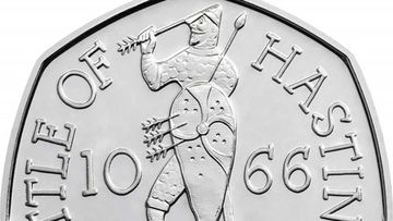 The Battle of Hastings 50p piece is one of the most common coins in circulation in the UK.