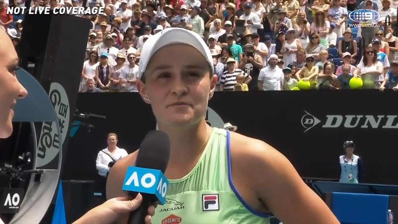 'The highlight of my day': Ashleigh Barty's touching post-match moment with best friend Casey Dellacqua after second-round win