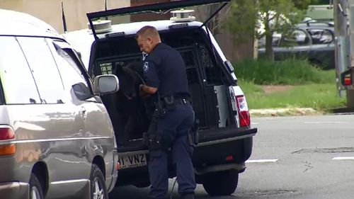 Officers and police dogs searched the scene and surrounding area. (9NEWS)