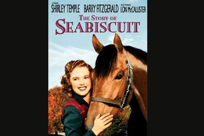 """One of Seabiscuit's real-life cousins played the champion horse, but the film's real claim to fame (or infamy) is the on-screen love affair between Shirley Temple and a jockey played by Lon McCallister, which was panned by a New York Times reviewer as """"one of the season's dullest romances"""". So much for being a child star all grown up..."""