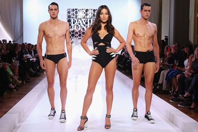 Hot. Hottie. Hot. This runway goddess leaves them all behind.