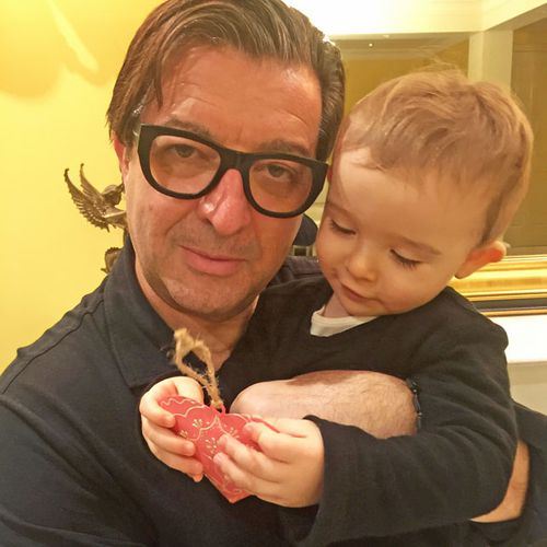 Romeo Pellegrini and son Ethan, who he has gone to desperate lengths for to buy his baby formula Novalac Allergy.