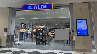 Aldi shopfront Castle Towers