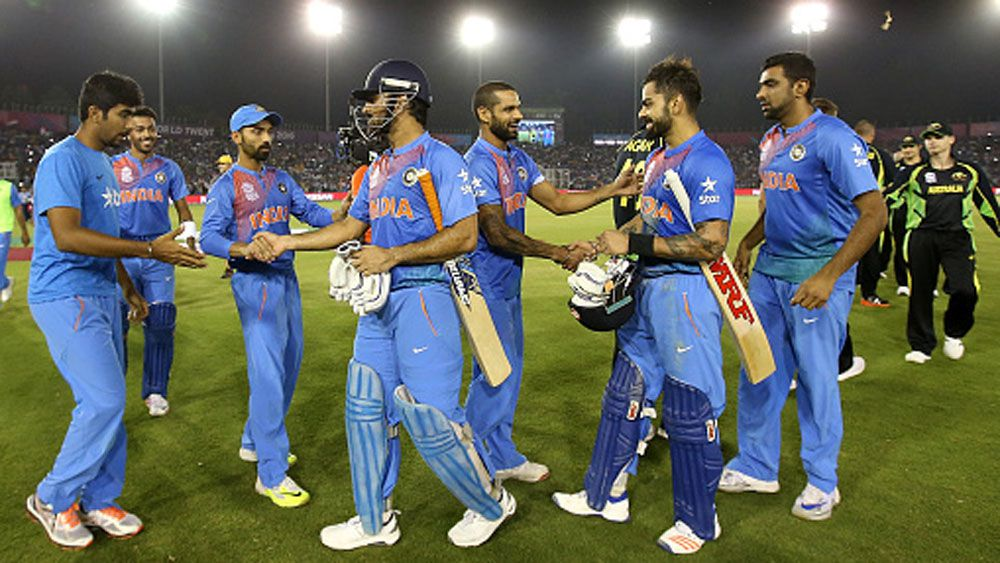 Indian players celebrate their win over Australia. (Getty)