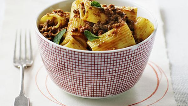 Veal and pancetta ragu with rigatoni
