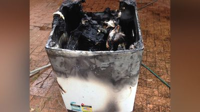 A NSW house fire caused by a recalled Samsung washing machine has prompted fresh warnings for people to check their whitegoods and demand full refunds for faulty models.<br>  <br>Samsung has issued a recall for six washing machine models manufactured between 2010-13, including SW75V9WIP, SW65V9WIP, SW70SPWIP, SW80SPWIP, WA85GWGIP and WA85GWWIP. (Facebook)<br>
