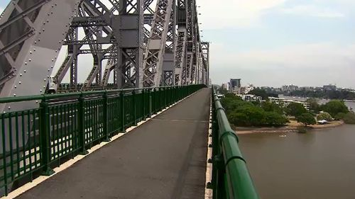 An existing walkway on Brisbane's Story Bridge. (9NEWS)