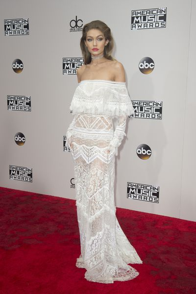 Number one<br> Gigi Hadid<br> Event co-host Gigi Hadid's Roberto Cavalli lace dress with serious Stevie Nicks vibes is the standout of her five outfit changes.&nbsp;