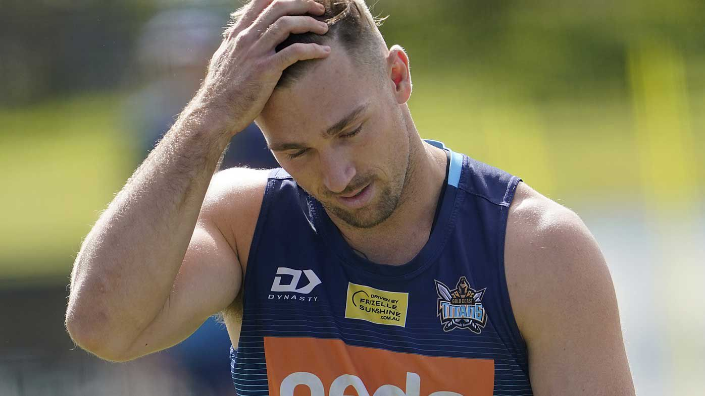 Bryce Cartwright during the Gold Coast Titans training session on the Gold Coast.