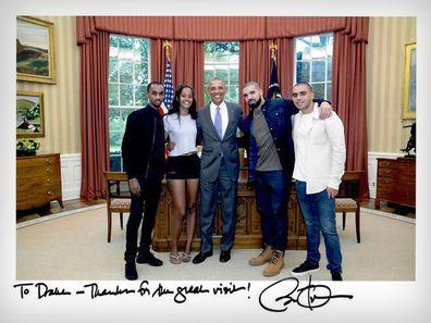 Drake and Barack Obama.