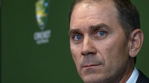 New Australian cricket coach Justin Langer said he will 'learn from the past' at a press conference in Melbourne. (AAP)