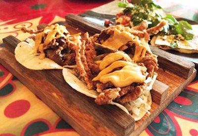 El Topo's soft shell crab tacos