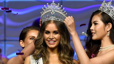 Miss World Australia's Muslim contender jets to China