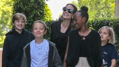 Angelina Jolie, Knox Jolie-Pitt, Shiloh Jolie-Pitt, Zahara Jolie-Pitt and Vivienne Jolie-Pitt