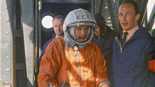 Yuri Gagarin just before his successful space flight.