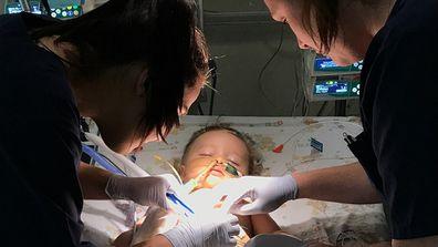 Heart baby operation photo