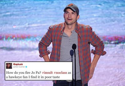 """Ashton Kutcher earned the ire of thousands of angry fans when he tweeted his support of ex-football coach, Joe Paterno, who was fired amid a sex abuse scandal in 2011. <br/><br/>The actor, who said he found Paterno's termination to be """"in poor taste"""", was quick to retract the statement when his followers alerted him to the real story."""