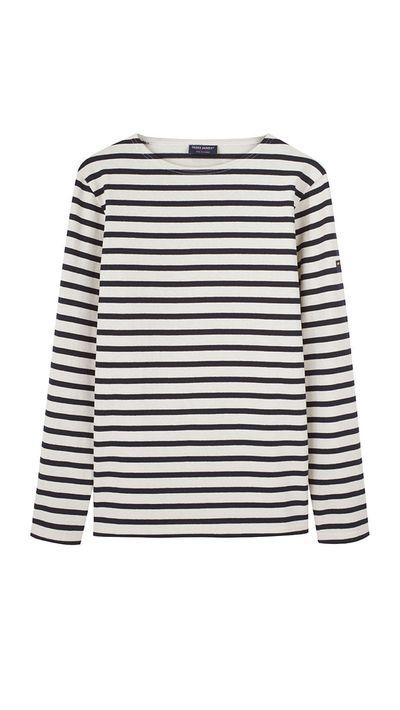 <p>Saint James' weekend-perfect Breton stripe.</p>